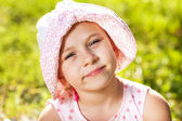 Large portrait of a little girl — Stock Photo