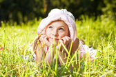 Little girl dream about something — Stock Photo