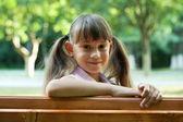 Menina sorridente — Foto Stock