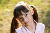 Charming little girl on a summer evening — Stock Photo