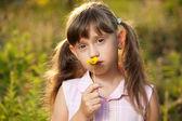 Girl in summer dress — Stock Photo