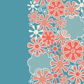 Seamless abstract lace floral pattern — Stock Vector