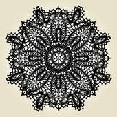 нежные кружева салфетка выкройка — Cтоковый вектор
