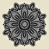 Delicate lace doily pattern — Stock Vector