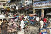 Transportu w old delhi — Zdjęcie stockowe