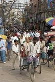 Zielony transportu w old delhi — Zdjęcie stockowe