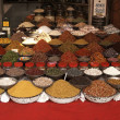 Indian Market Stall Selling Nuts and Spices — Stock Photo