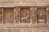 Ornate Indian Carvings — Stock Photo