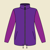 Purple Jacket — Stock Vector