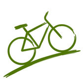 Green bike — Stock Vector