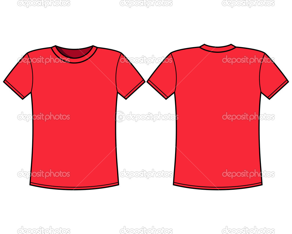 Blank red t-shirt template — Stock Vector © nikolae #11069921