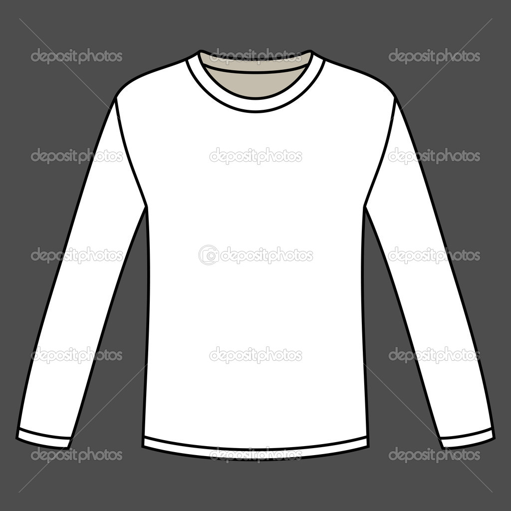 long sleeved t shirt template stock vector nikolae 11158812. Black Bedroom Furniture Sets. Home Design Ideas