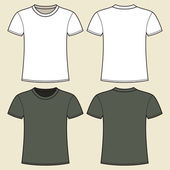 Gray and white t-shirt template — Stock Vector