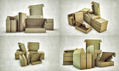 Cardboard boxes — Stock Photo