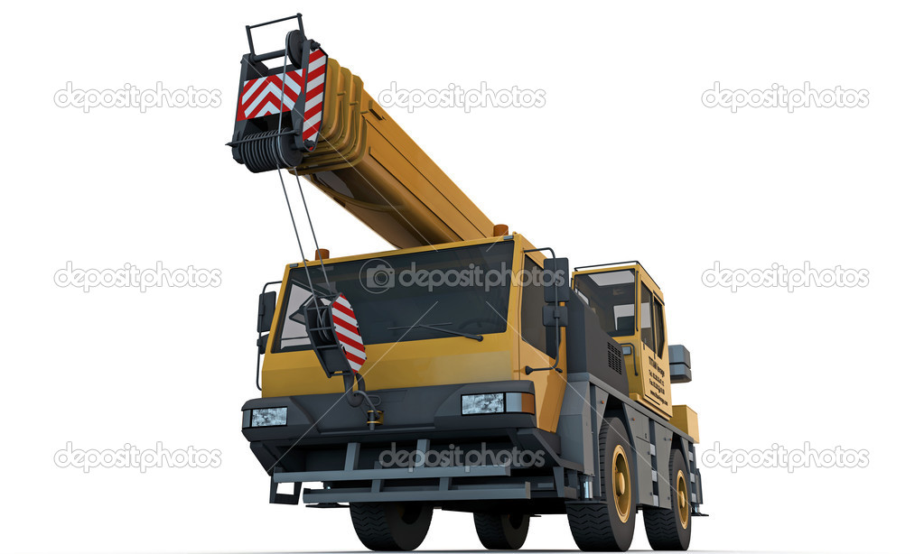 Crane truck isolated on white background — Stock Photo #11216496