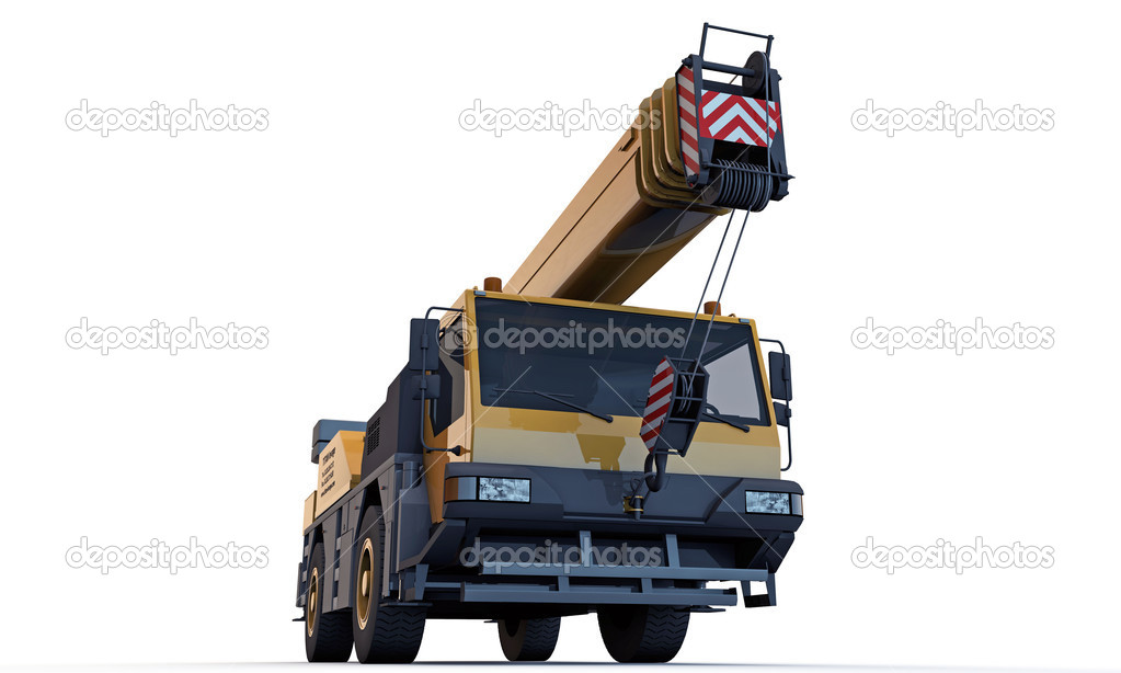 Crane truck isolated on white background — Stock Photo #11216616