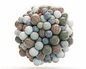 Brick balls — Stock Photo