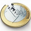 Broken euro — Stock Photo
