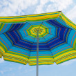 Umbrella on the beach — Stock Photo