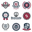 University and college crests - Stock Vector