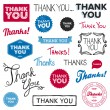 Vector de stock : Thank you graphics