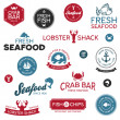 Seafood labels — Stock Vector #11006743