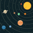 Solar system illustration - Stok Vektör