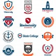 Stockvector : University and college emblems