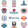 University and college emblems — Stock Vector
