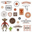 Old western designs - Stock Vector