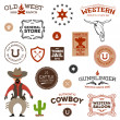 Old western designs — Stock Vector
