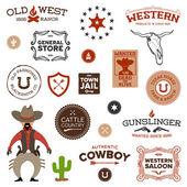 Old western designs — Stock Vector