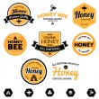 Stock Vector: Honey labels
