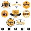 Honey labels — Stock Vector