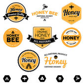 Honey labels — Stok Vektör