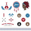 Vector de stock : Native tribal designs