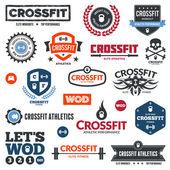 Gráficos de atletismo crossfit — Vector de stock
