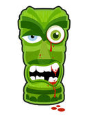 Zombie Tiki — Stock Vector