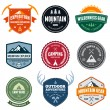 Mountain badges — Image vectorielle