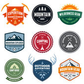 Mountain badges — Stok Vektör