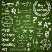 Back-to-school hand-drawn elements — Vettoriale Stock