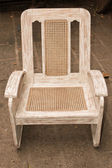 Old caned chair — Stock Photo