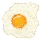 Sunny side up fried egg — Stock Vector
