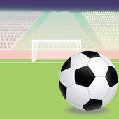 Soccer, football field — Stock Vector