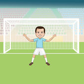 Goal keeper — Stock Vector