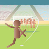 Free kick — Stock Vector