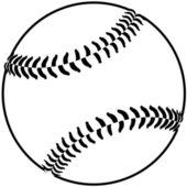 Baseball outline — Stock Vector