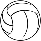 Volleyball outline — Stock Vector
