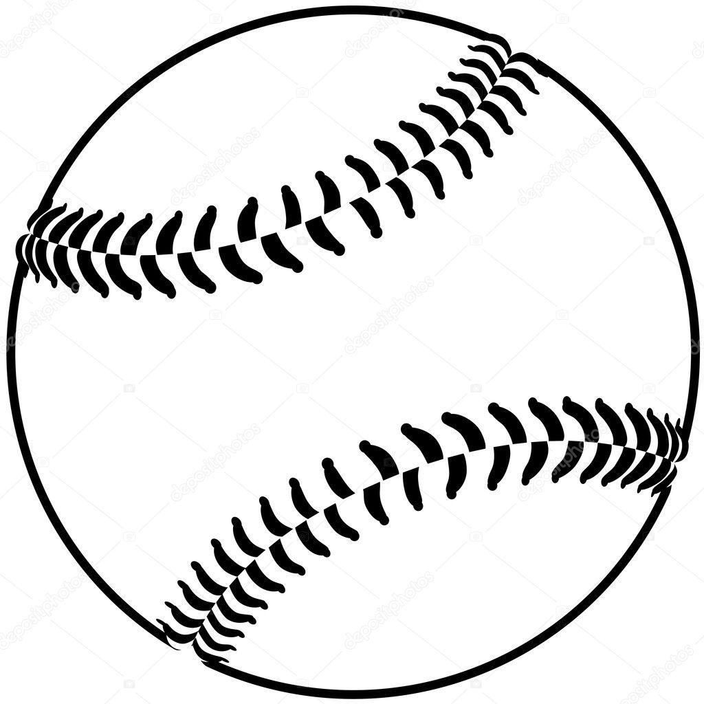 Baseball outline — Stock Vector © jomaplaon #11903135