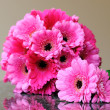 Pink bouquet and buttonhole — Stock Photo